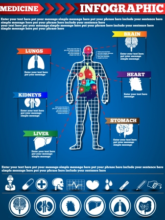 INFOGRAPHIC MEDICINE Illustration
