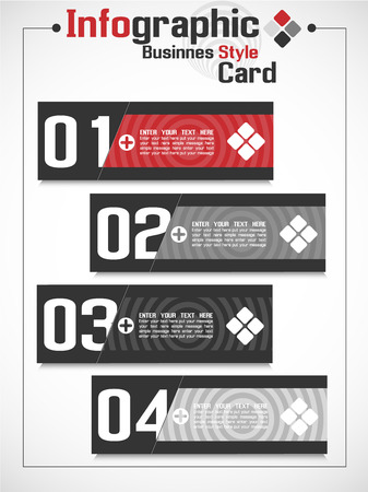 businnes: INFOGRAPHIC BUSINNES CARD STYLE Illustration