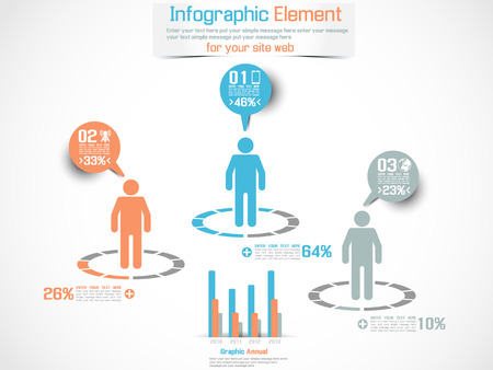 INFOGRAPHIC DEMOGRAPHIC MAN PERCENTAGE BLUE