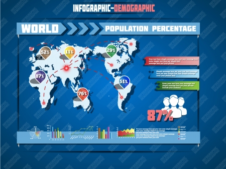 special edition: INFOGRAPHIC DEMOGRAPHIC WORLD MAP SPECIAL EDITION Illustration