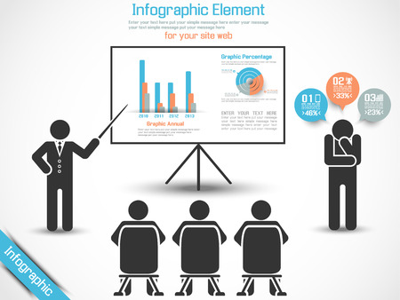 INFOGRAPHIC CONFERENCE MAN BUSINESS Illustration