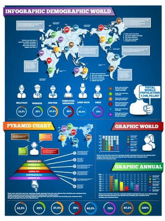 INFOGRAPHIC DEMOGRAPHIC MODERN STYLE 3