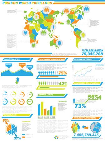 INFOGRAPHIC DEMOGRAPHICS  POPULATION 2 SPECIAL EDITION Illustration