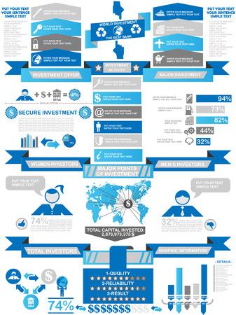 demographics: INFOGRAPHIC DEMOGRAPHICS BUSINESS BLUE Illustration