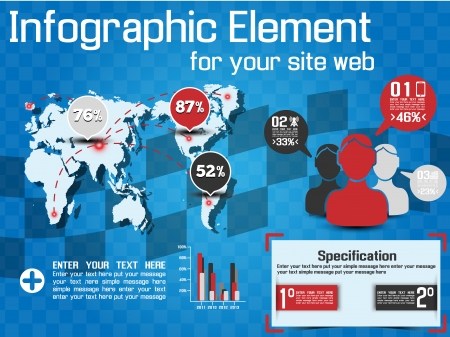 web element: INFOGRAPHIC MODERN STYLE WEB ELEMENT