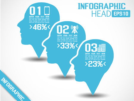 INFOGRAPHIC HEAD BLUE