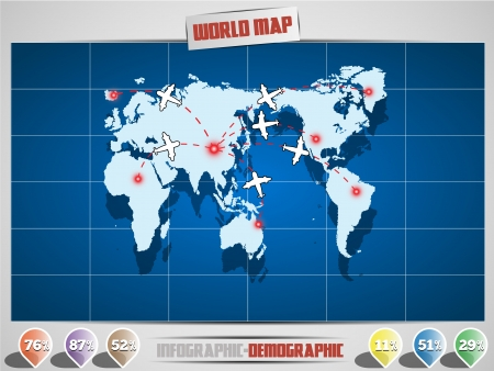 MAP INFOGRAPHIC AIR Illustration