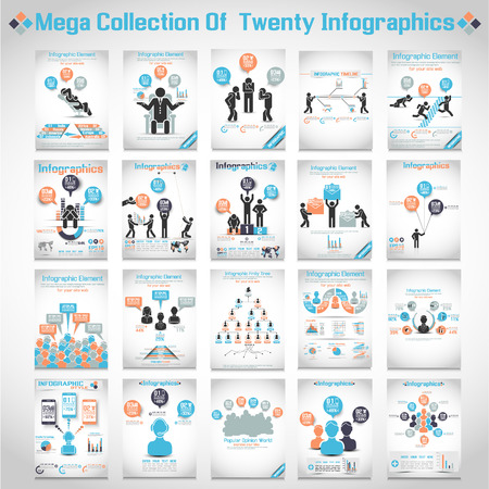 mensen kring: MEGA COLLECTIES VAN TIEN MODERNE ORIGAMI Business pictogram MAN STYLE OPTIONS BANNER 3
