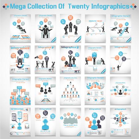 emberek: MEGA gyűjtemények TEN MODERN ORIGAMI BUSINESS ICON MAN stílus lehetőségeket BANNER 3 Illusztráció