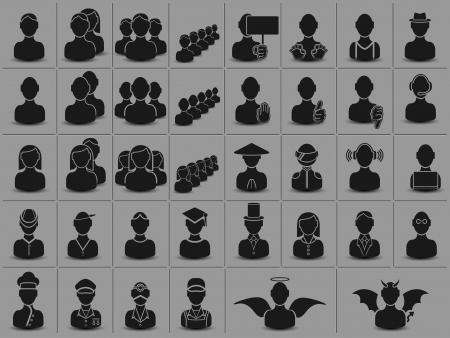 demography: MEN HALF-LENGTH FOR WEB Illustration