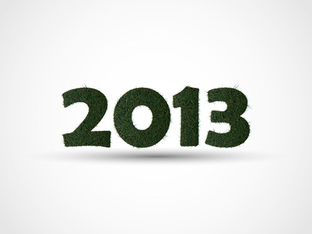2013 HAPPY NEW YEAR GRASS Vector