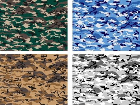 COLLECTION URBAN CAMOUFLAGE Stock Vector - 24232437