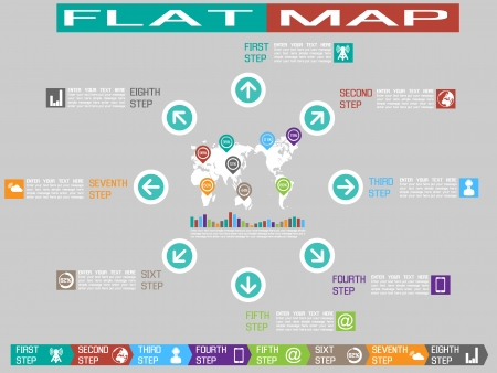 FLAT UI INFOGRAPHIMAP STYLE 2