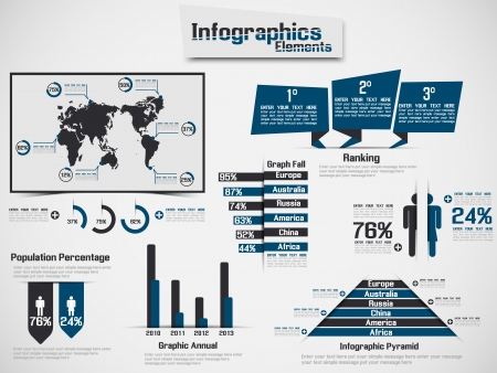 INFOGRAPHIC DEMOGRAPHIC ELEMENT WEB NEW STYLE BLUE