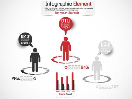 demografico: Infograf�a MAN DEMOGR�FICA PORCENTAJE Vectores