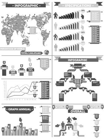 demografico: Infograf�a DEMOGR�FICA RTERO LABBEL GRIS Vectores