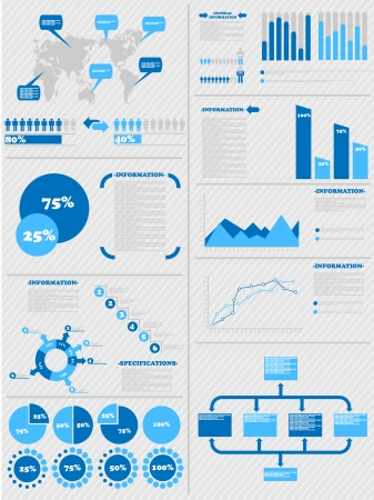 demographics: INFOGRAPHIC DEMOGRAPHICS 5 BLUE Illustration