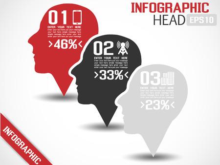 INFOGRAPHIC HEAD GREY