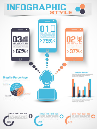 INFOGRAPHIC MODERN STYLE MOBILE Illustration