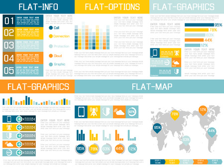 FLAT UI INFOGRAPHIC YELLOW Illustration