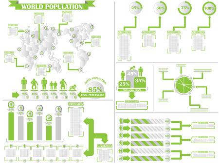 demographics: INFOGRAPHIC DEMOGRAPHICS 4 GREEN Illustration