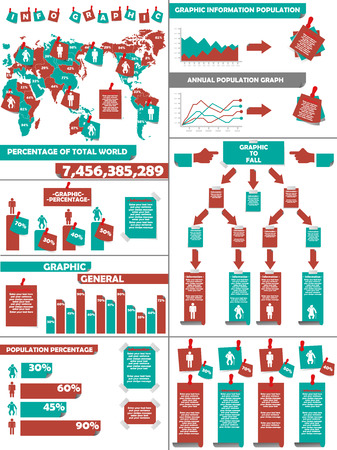 demographics: INFOGRAPHIC DEMOGRAPHICS POST IT RED