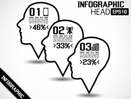 INFOGRAPHIC HEAD STYLE 2 Illustration