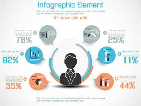 INFOGRAPHIC MODERN PEOPLE BUSINESS NEW Illustration