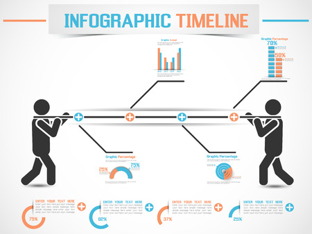 INFOGRAPHIC MODERN TIMELINE MAN 2 Illustration