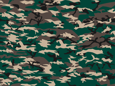 soldier silhouette: COVER CAMOUFLAGE GREEN Illustration