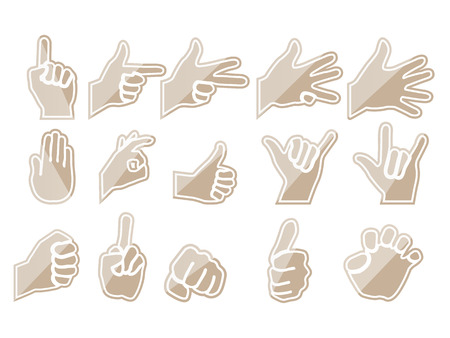 HAND BROWN Vector