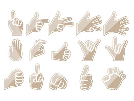 HAND BROWN Illustration