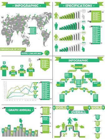 demografico: Infograf�a DEMOGR�FICA RTERO LABBEL VERDE Vectores
