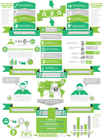 INFOGRAPHIC DEMOGRAPHICS BUSINESS GREEN Illustration