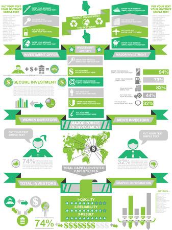 demographics: INFOGRAPHIC DEMOGRAPHICS BUSINESS GREEN Illustration