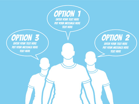 BUSINESSMAN OPTION TEMPLATE STEP RANKING BLUE 2 Illustration