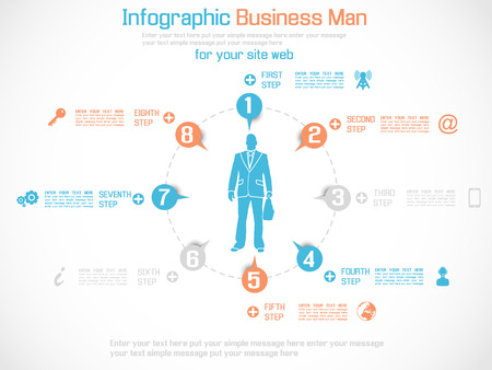 special edition: INFOGRAPHIC BUSINESS MAN SPECIAL EDITION ORANGE Illustration