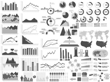 demografico: NUEVO ESTILO WEB elementos de Infograf�a DEMOGR�FICA GRAY Vectores