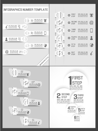 progressive: COLLECTION INFOGRAPHIC NUMBER TEMPLATE TIMELINE PROGRESSIVE