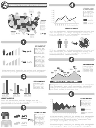 demographics: INFOGRAPHIC DEMOGRAPHICS OF STATES OF AMERICA GRAY