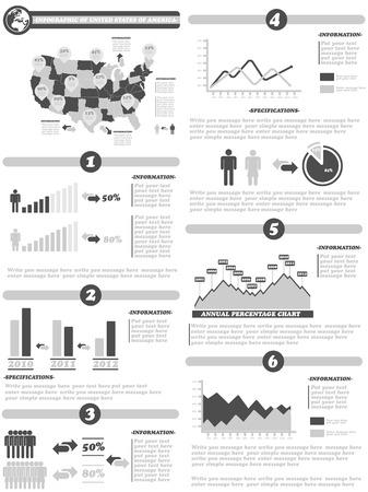 demographics: INFOGRAPHIC DEMOGRAPHICS OF STATES OF AMERICA GRAY