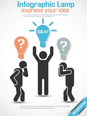 INFOGRAPHIC MAN IDEA Vector
