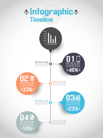 history icon: INFOGRAPHIC TIMELINE CONCEPT 2 Illustration