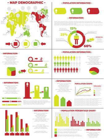 INFOGRAPHIC DEMOGRAPHICS  POPULATION 3 SECOND EDITION Illustration