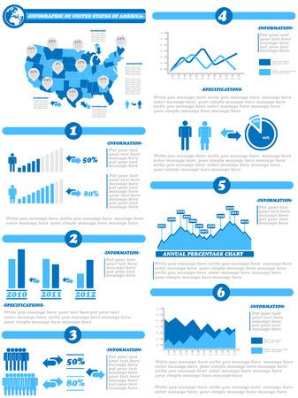 demographics: INFOGRAPHIC DEMOGRAPHICS OF STATES OF AMERICA BLUE