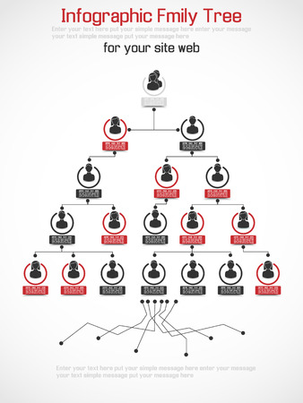 family tree: INFOGRAPHIC FAMILY TREE RED
