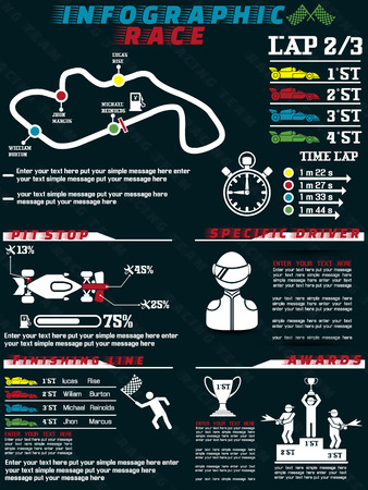 INFOGRAPHIC RACE  Vector