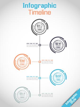 tecnology: INFOGRAPHIC TIMELINE MODERN CONCEPT TECNOLOGY
