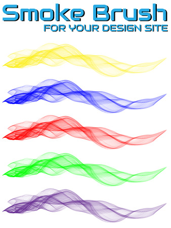waved: SMOKE BRUSH FOR YOUR DESIGN SITE Illustration