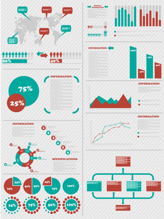 demographics: INFOGRAPHIC DEMOGRAPHICS 5 RED